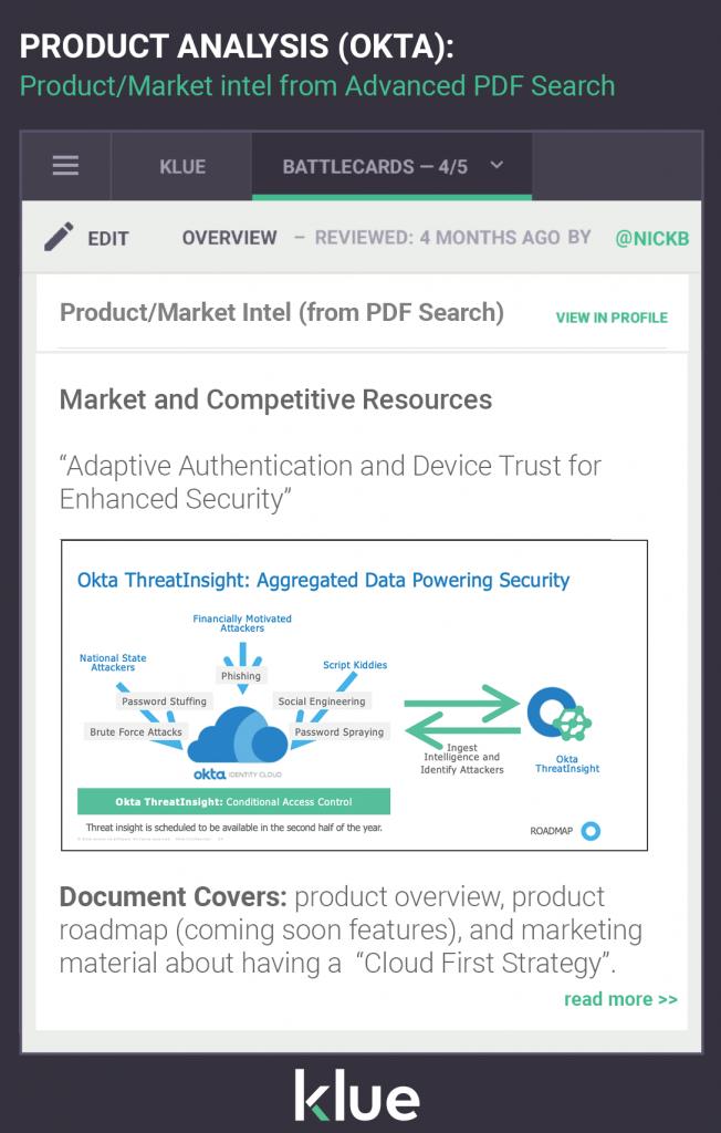 Product Analysis Advanced Google PDF search Okta