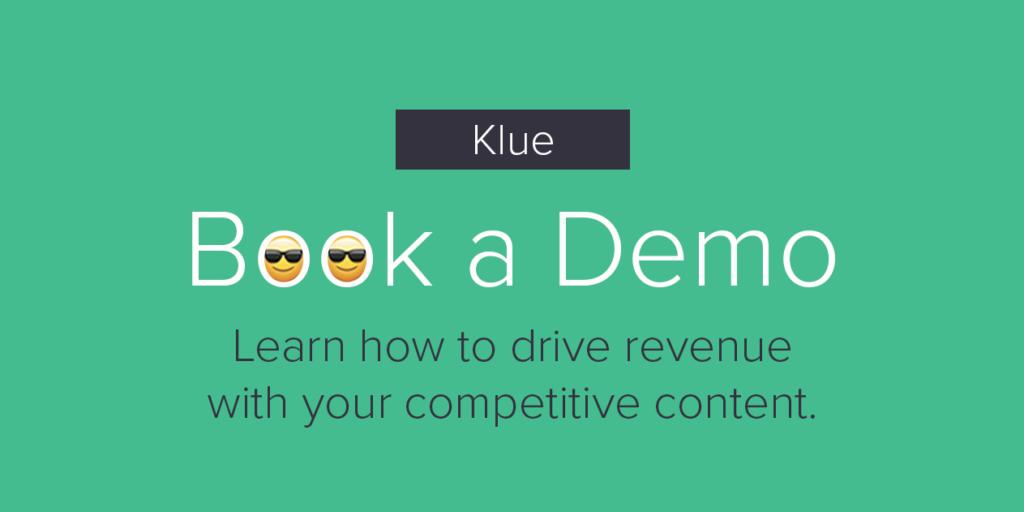 Book a Demo - Klue